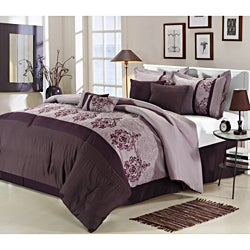 Renaissance Plum 12-piece Bed In a Bag with Sheet Set