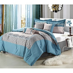 Mustang Blue 12-piece Bed in a Bag with Sheet Set