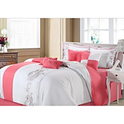 Ann Harbour Pink 12-piece Bed in a Bag with Sheet Set