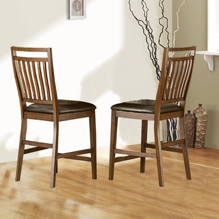 Harper Warm Cherry Mission 24-inch Counter Dining Stool (Set of 2)