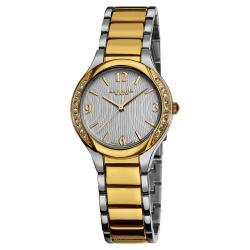 Akribos XXIV Women's Swiss Quartz Stainless Steel Two-Tone Crystal Watch