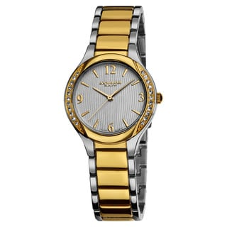 Akribos XXIV Women's Swiss Quartz Stainless Steel Two-Tone Crystal Watch
