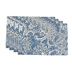 Mardi Gras Sail Blue Floral Damask Placemats (Set of 4)