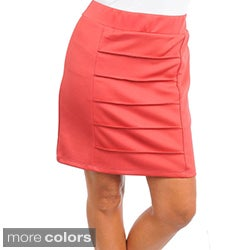 Stanzino Women's Plus Pleated Mini Skirt