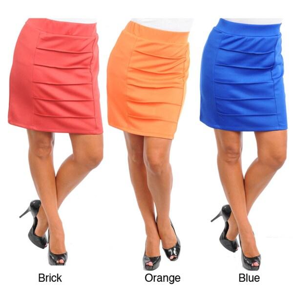 Stanzino Women's Plus Pleated Mini Skirt