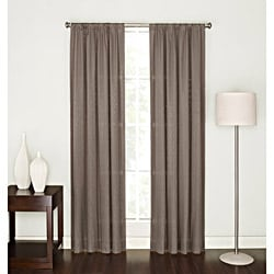 Tavonne Chocolate Sequin 84-Inch Rod Pocket Curtain Panel
