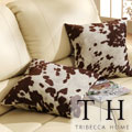 TRIBECCA HOME Decor Cow Hide Print Pillow (Set of 2)