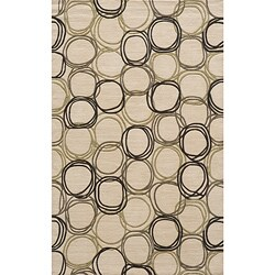 Soho Circles Ivory Wool Rug (8' x 11')
