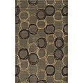 Soho Circles Grey Wool Rug (8' x 11')