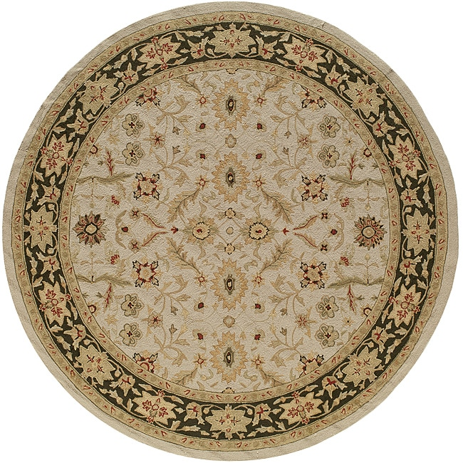 South Beach Indoor/Outdoor Ivory Persian Rug (9' x 9' Round)