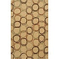 Soho Circles Gold Wool Rug (8' x11')