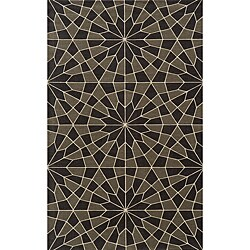Soho Mosaic Power-Loomed Charcoal Wool Rug (8'0 x 11')