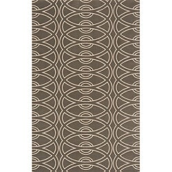Soho Chic Power-Loomed Grey Wool Rug (9'6 x 13'6)