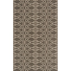 Power-Loomed Soho Chic Grey Wool Rug (9'6 x 13'6)
