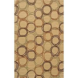 Soho Circles Gold Wool Rug (9'6 x 13'6)