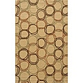 Soho Circles Gold Wool Rug (9'6 x 13'6)