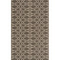 Power-Loomed Soho Chic Grey Wool Rug (3'0 x 5'0)