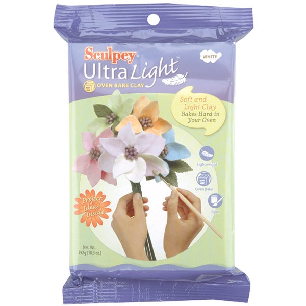 Sculpey Ultra Light Polymer Clay 8 Ounces-White