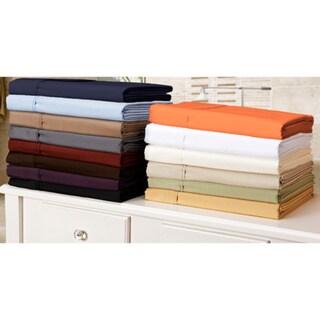 Microfiber Wrinkle-Resistant Solid Plain Weave Pillowcases (Set of 2)
