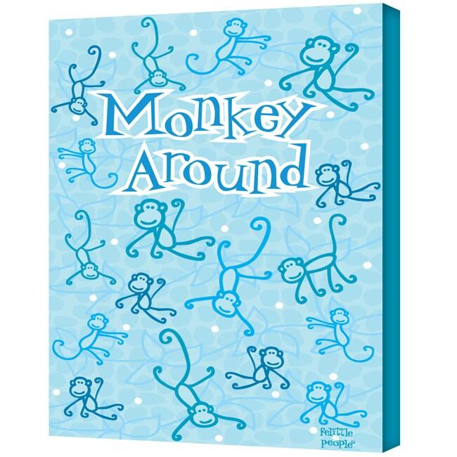 Felittle People 'Monkey Around' Gallery Wrapped Canvas Art