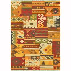 Hand-woven Cordova Multi/ Patch Rug (7'6 x 9'6)