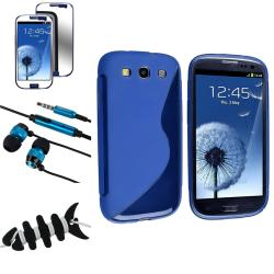 BasAcc Blue Case/Screen Protector/Headset/Wrap for Samsung Galaxy S III