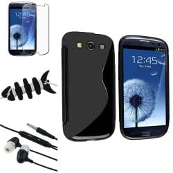 Black Case/ Protector/ Headset/ Wrap for Samsung Galaxy S III