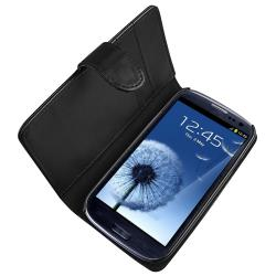 INSTEN Leather Case Cover/ Protector/ Wrap/ Car Charger for Samsung Galaxy S III