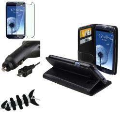 Leather Case/ Protector/ Wrap/ Car Charger for Samsung Galaxy S III