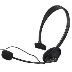 Black Headset for Microsoft Xbox 360