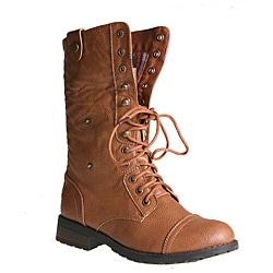 Sweet Beauty Women's 'Terra-06' Camel Combat Boots