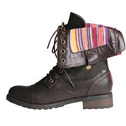 Sweet Beauty Women's 'Terra-06' Brown Combat Boots