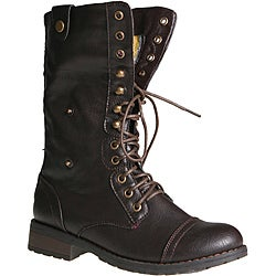 Sweet Beauty Women's 'Terra-06' Brown Combat Boots