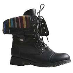 Sweet Beauty Women's 'Terra-06' Black Combat Boots