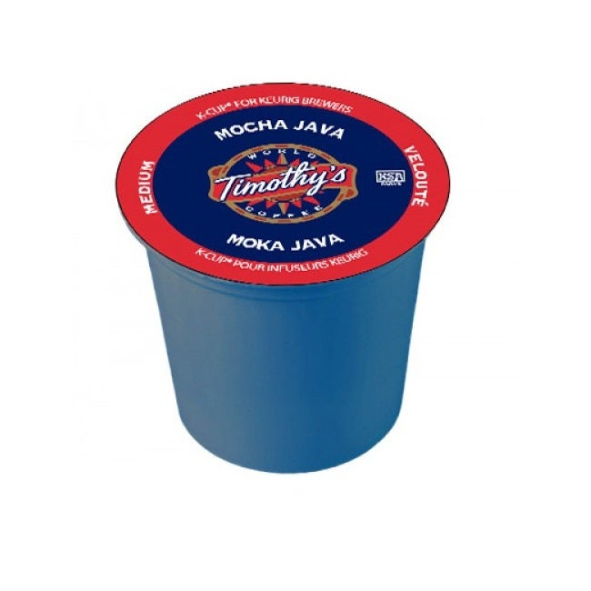 Timothy's World Coffee Mocha Java 96 K-Cups for Keurig Brewers