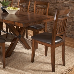 Inverness Warm Oak Cushioned Mission Dining Chair (Set of 2)