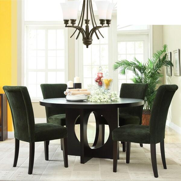 Westmont 5-piece Moss Corduroy 54-inch Round Dining Set