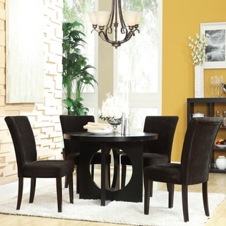 Westmont 5-piece Chocolate Corduroy 42-inch Round Dining Set