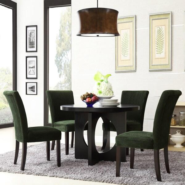 Westmont 5-piece Moss Corduroy 42-inch Round Dining Set