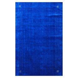 Indo Hand-loomed Blue/ Green Gabbeh Wool Rug (6' x 9')