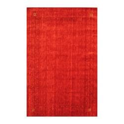 Indo Hand-loomed Red/ Blue Gabbeh Wool Rug (6' x 9')