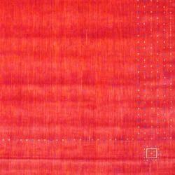 Herat Oriental Indo Hand-loomed Red/ Ivory Gabbeh Wool Rug (9' x 12')