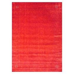 Indo Hand-loomed Red/ Ivory Gabbeh Wool Rug (9' x 12')