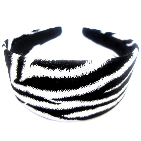 Crawford Corner Shop Black White Zebra Skin Headband