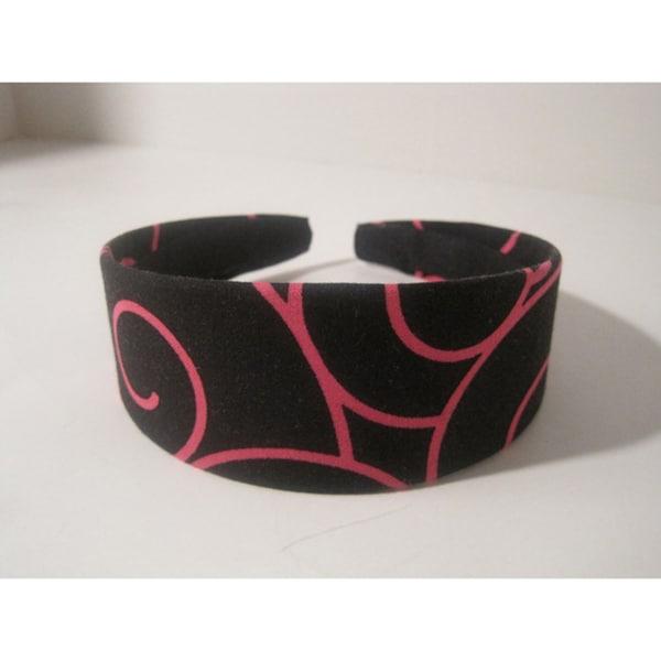 Crawford Corner Shop Black Pink Swirl Headband