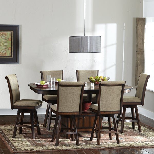 TRIBECCA HOME Glenbrook 7 piece Counter Height Dining Set with Swivel Chairs