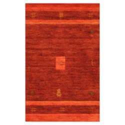 Indo Hand-loomed Purple/ Red Gabbeh Wool Rug (3' x 5')