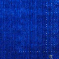 Indo Hand-loomed Blue/ Beige Gabbeh Wool Rug (3' x 5')