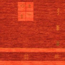 Indo Hand-loomed Burgundy/ Red Gabbeh Wool Rug (4' x 6')