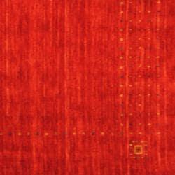 Herat Oriental Indo Hand-loomed Red/ Green Gabbeh Wool Rug (4' x 6')
